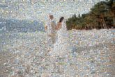 beach weddings marriage married husband wife bride groom people portraits couples love distant distance
