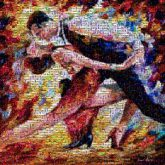 dancers dancing people faces portraits drawings paintings illustrations art abstract