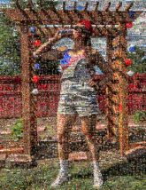 patriotic patriotism holiday country nation America USA celebration party portrait distance pose