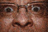 close up portraits people faces man person eyes glasses flash