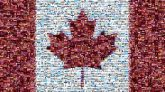 flags Canada national symbolic maple leaf Canadian simple country