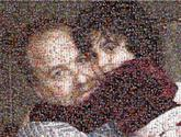 father daughter family love hug people faces man girl youth close up