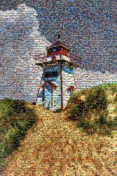 Lighthouse Painting Covehead Harbour Lighthouse Atlantic Canada Art Artist Drawing Fine Arts tower sky landmark cloud beacon observation tower