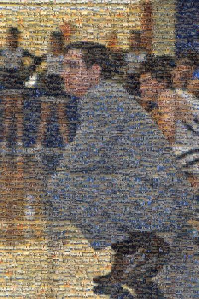 Basketball Coach photo mosaic