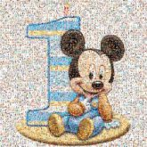 birthdays celebrations characters illustrations children kids animated disney mickey mouse numbers