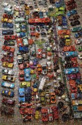 toys cars matchbox mess objects children still life