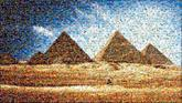 pyramids giza landmarks landscape skyline egypt travel structures buildings