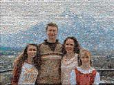 family group distance distant people faces love vacation