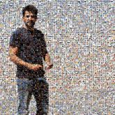 people faces portraits man distant distance full body