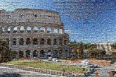 Rome Italy Colosseum family vacations parents couples kids children siblings daughters sons husbands wife together posing sky outdoors ruins historial