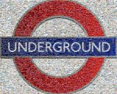 Subways travel signs letters words signage type text patriotic England UK British Britain nation Europe Union