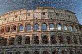 Colosseum  Rome Italy ruins historical sky landmarks outdoors arena