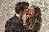excited happy happiness couples romance people kissing kisses faces