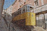 funiculars trams cars mountainside railway railroad travel transport incline decline ascent descent stations cables Portugal Lisbon European international classic vintage