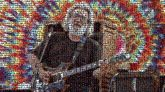 jerry garcia bands musicians performers performance guitars tie dye patterns grateful dead rock
