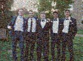 teens boys friends students prom tuxedos formal attire people group faces