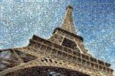 paris eiffel tower france french landmarks skylines skies skys