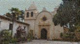 carmel mission basilica churches religion religious architecture structures outdoors outside roman catholic