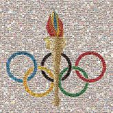olympics rings torch coloful symbols logos graphics icons sports athletics school education