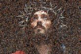 Jesus religious Catholics Christianity spiritual faith portraits artwork beards dramatic dark shadows