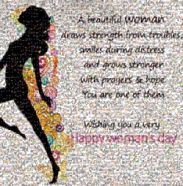 Happy Woman's Day photo mosaic