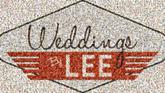 weddings by lee text logos company companies