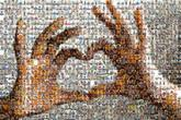 hands heart love symbol icon