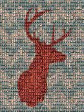 buck deer symbol icon pattern