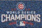 world series baseball sports text words letters logos graphics teams cubs chicago champions celebration