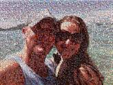 couple vacation beach travel people faces love sunglasses ocean