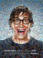 posters banners advertisement portraits person faces glasses smiling teeth fangs graphics surreal