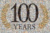 100 years numbers celebration celebrate graphics text words letters