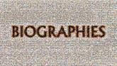 biographies text fonts letters words graphics symbols