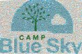 logos graphics text words letters camp trees cloud