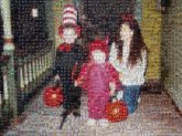halloween children kids costumes family distant distance formal mom mother holidays october fall autumn pumpkins