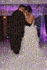 first dance weddings marriage married couples people faces formal distant distance full body portraits faces profiles