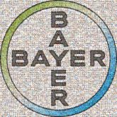 bayer brands logos graphics text circles shapes employee appreciation portraits