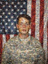 soldier USA American people faces flags army military