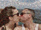 couples kissing people profiles sunglasses vacation travel beach ocean summer