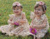 sisters twins girls children kids people faces portraits outdoors siblings holiday spring