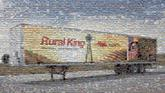 business company corporate text slogan motto object trailer rural king farms vehicle truck