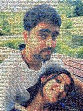 couple people faces parks love portrait selfie