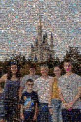Disney Magic Kingdom Family Fun Vacation distant distance groups people faces travel castles full body