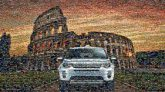 land rovers cars vehicles sunsets travel vacation italy rome european landmarks colosseum architecture structures