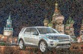 Russia Moscow SUV car vehicle travel explore driving night sky cityscape architecture domes cathedrals automobile
