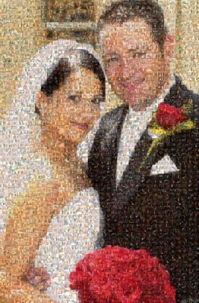 Just Married photo mosaic