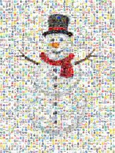snowman winter seasonal greetings christmas