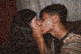 kissing couples young people person portraits love man woman
