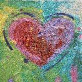 heart painting artistic colors abstract objects symbols graphics love