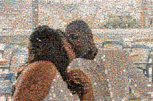 Kissing Couple photo mosaic